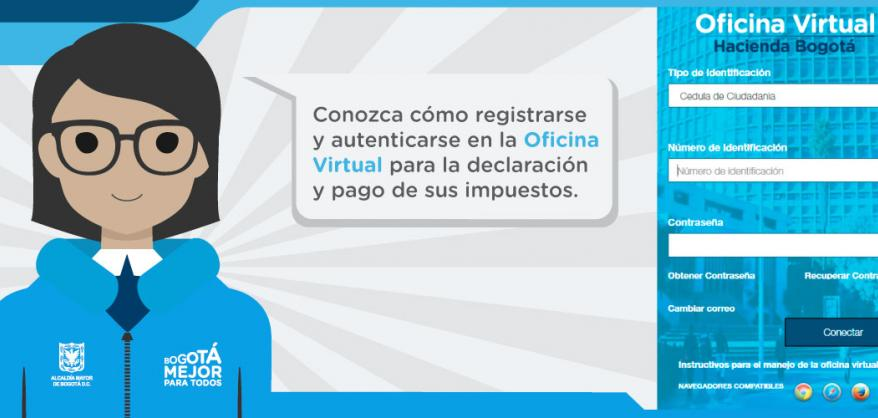 Instructivo para el registro en la Oficina Virtual